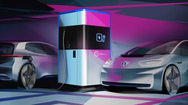 Volkswagen预览便携式EV充电站